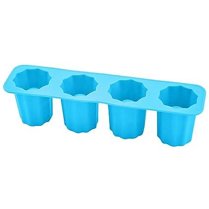 Gosear Bandeja de Cubitos de Hielo, Novedad Copa Forma de Hielos de Silicona Cubo de
