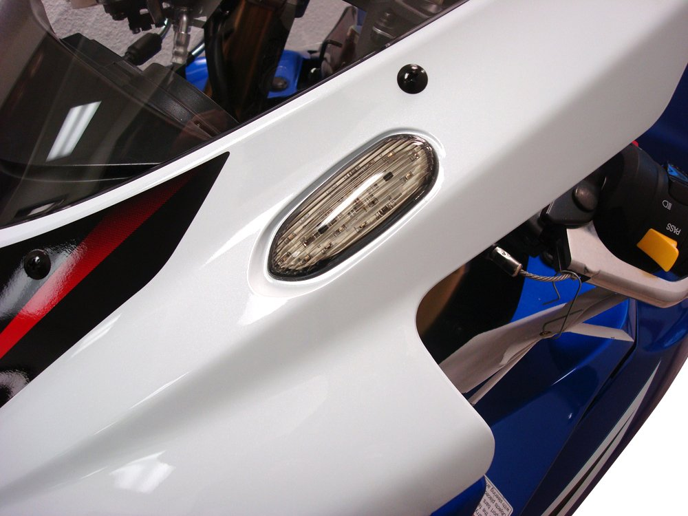 Hotbodies Racing S06GS-SIG-BLU LED Blinker//Mirror Block-Off with Blue Lens