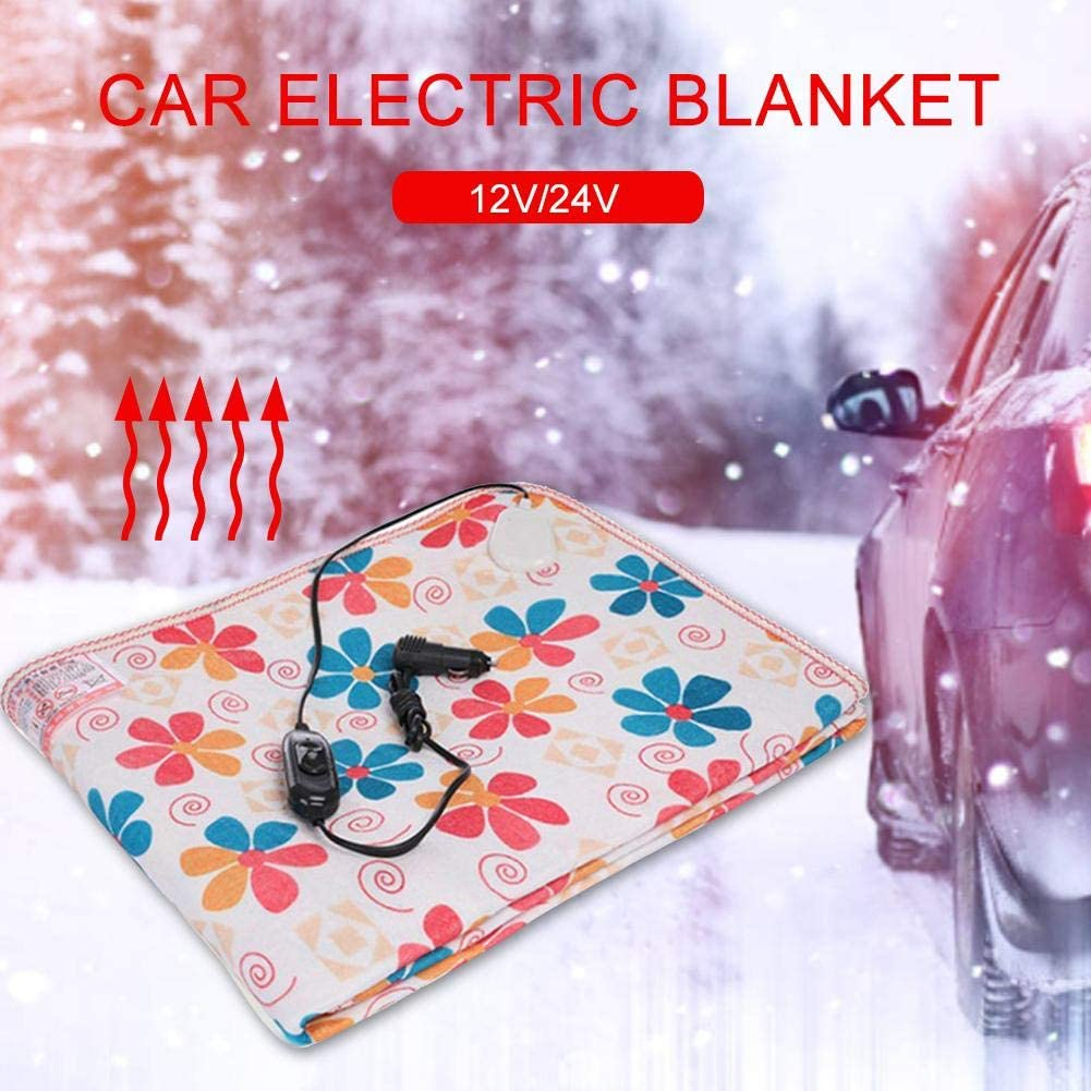 12V//24V Heated Smart Multifunctional Travel Electric Blanket 59.05x 27.55,59.05x19.68 Heated Quilt for Car Truck Boats or RV,High//Low Temp Control