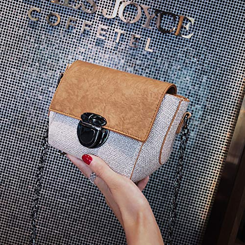pequeña Bolsa Paquete Costura Retro Transparente Mujer láser Tendencia Contraste Bolsa Bolso Color gelatina Carta Cuadrada impresión de de de Lentejuela wItzfTfq