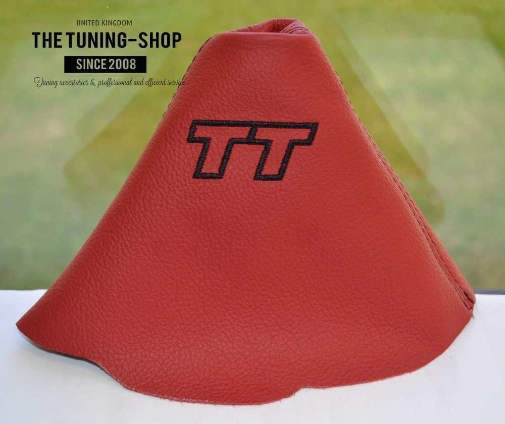 Pour Audi TT MK2/2006 13/Gear Gu/êtres en cuir rouge broderie Noir TT Edition