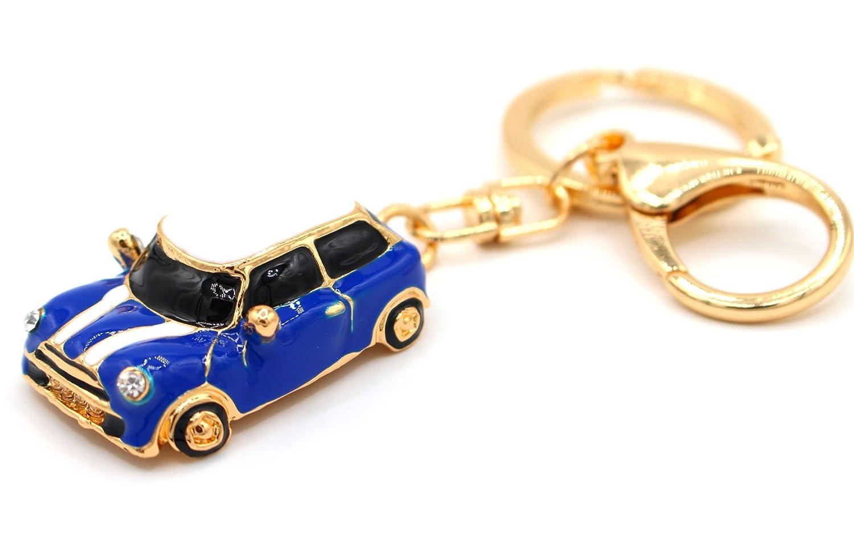 Mini Auto Cooper Azul Llavero de VMG de Store: Amazon.es ...