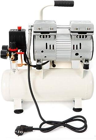 Relaxbx Compresor de Aire silencioso de bajo Ruido 680W 50 l/min 9L 8 Bar Sin Aceite UK Plug: Amazon.es: Deportes y aire libre