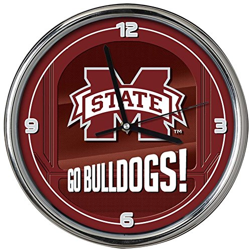 - The Memory Company NCAA Mississippi State University Go Team! Chrome Clock, One Size, Multicolor