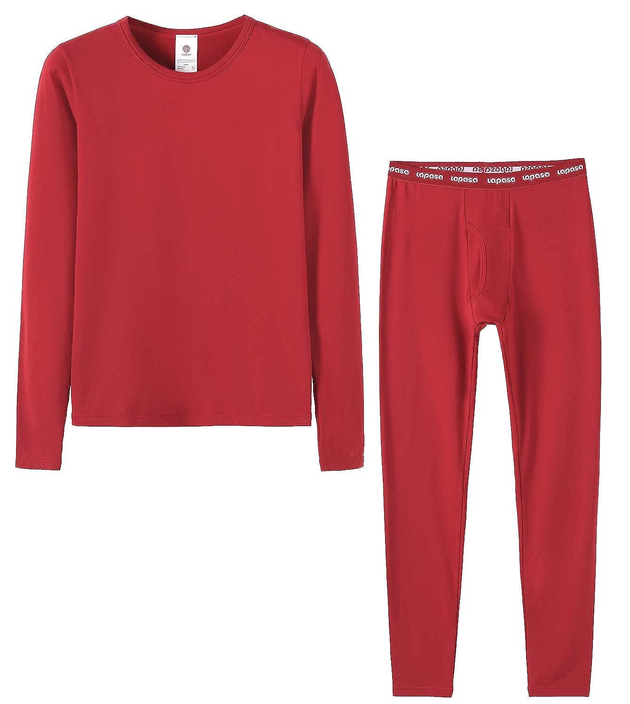 LAPASA Boys Thermal Underwear Long John Set Fleece Lined Base Layer Top and Bottom B03