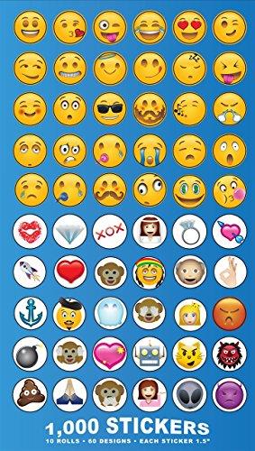 Emoji Universe Mega Sticker Assortment 1000 Unique Emoji