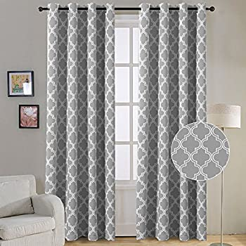 gray curtains loading s grey window embroidered inch set is image drapes floral valance itm panels
