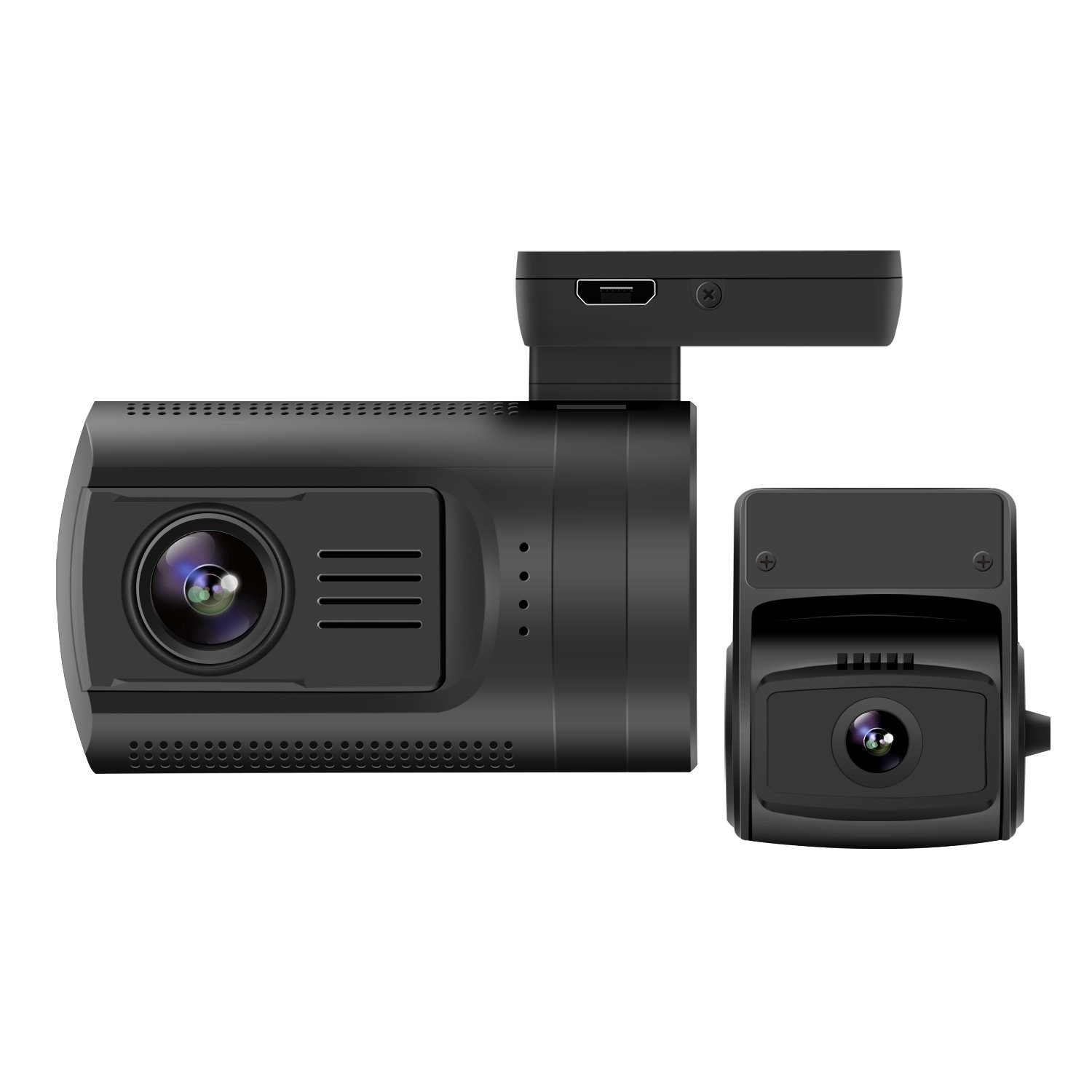 zerogogo Dual Dash Cam 1080P FHD Mini 0906 Dashboard Camera Recorder with GPS, Sony Super Night Vision IMX291 IMX323 Exmor Sensor, 7 Glasses Lens Wide Angle, G-Sensor Dash Cam for Cars (ZE0906) KAILUKE (ShenZhen) Technology Co. Ltd