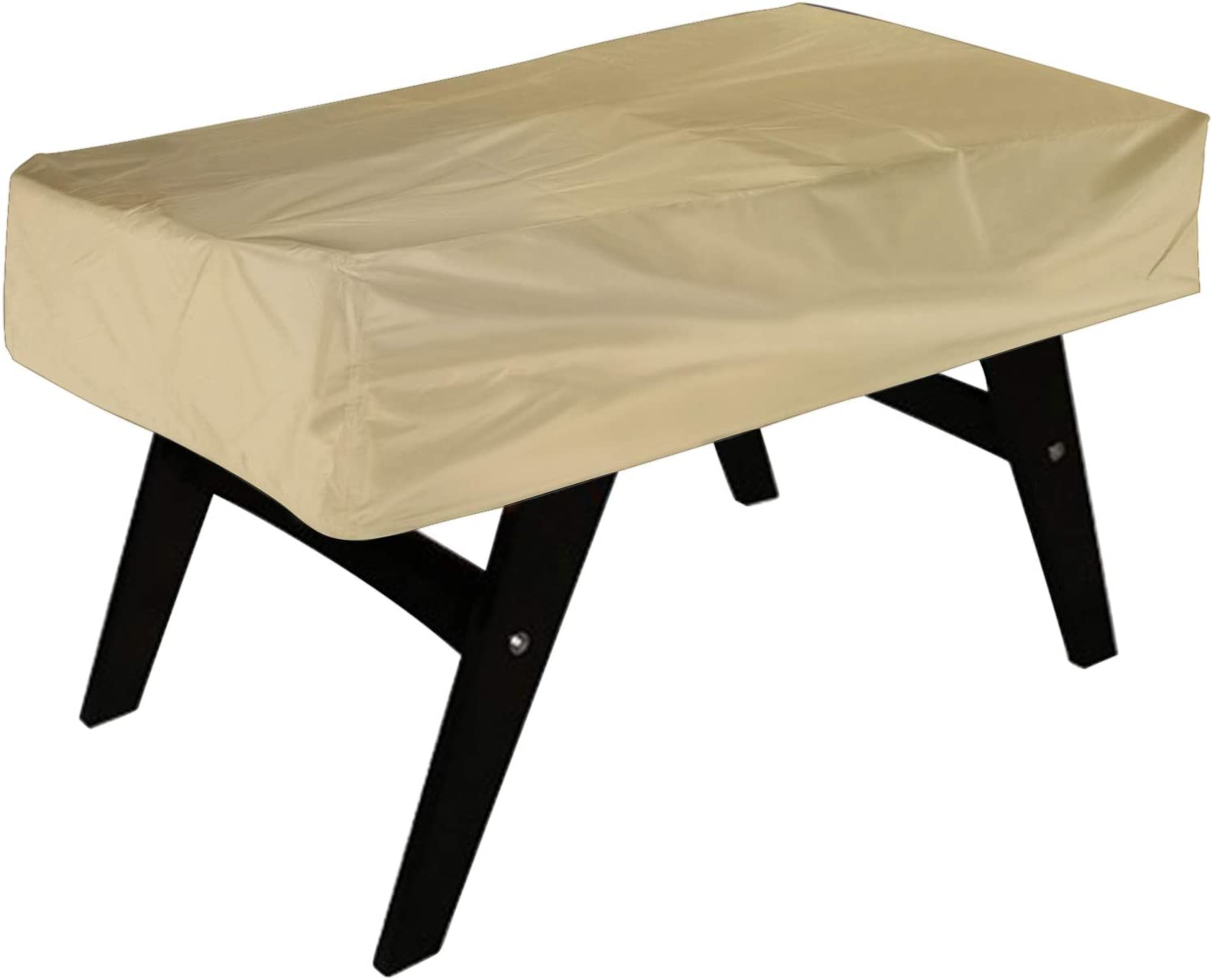 NEVERLAND Foosball Table Cover, Outdoor Waterproof Dust Rectangular Patio Coffee Chair Billiard Soccer Cover Beige 63 x 45 x 19.7inch