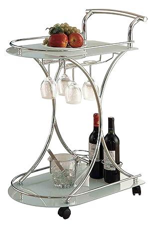 Amazon.com: Coaster Carrito de servir: Kitchen & Dining