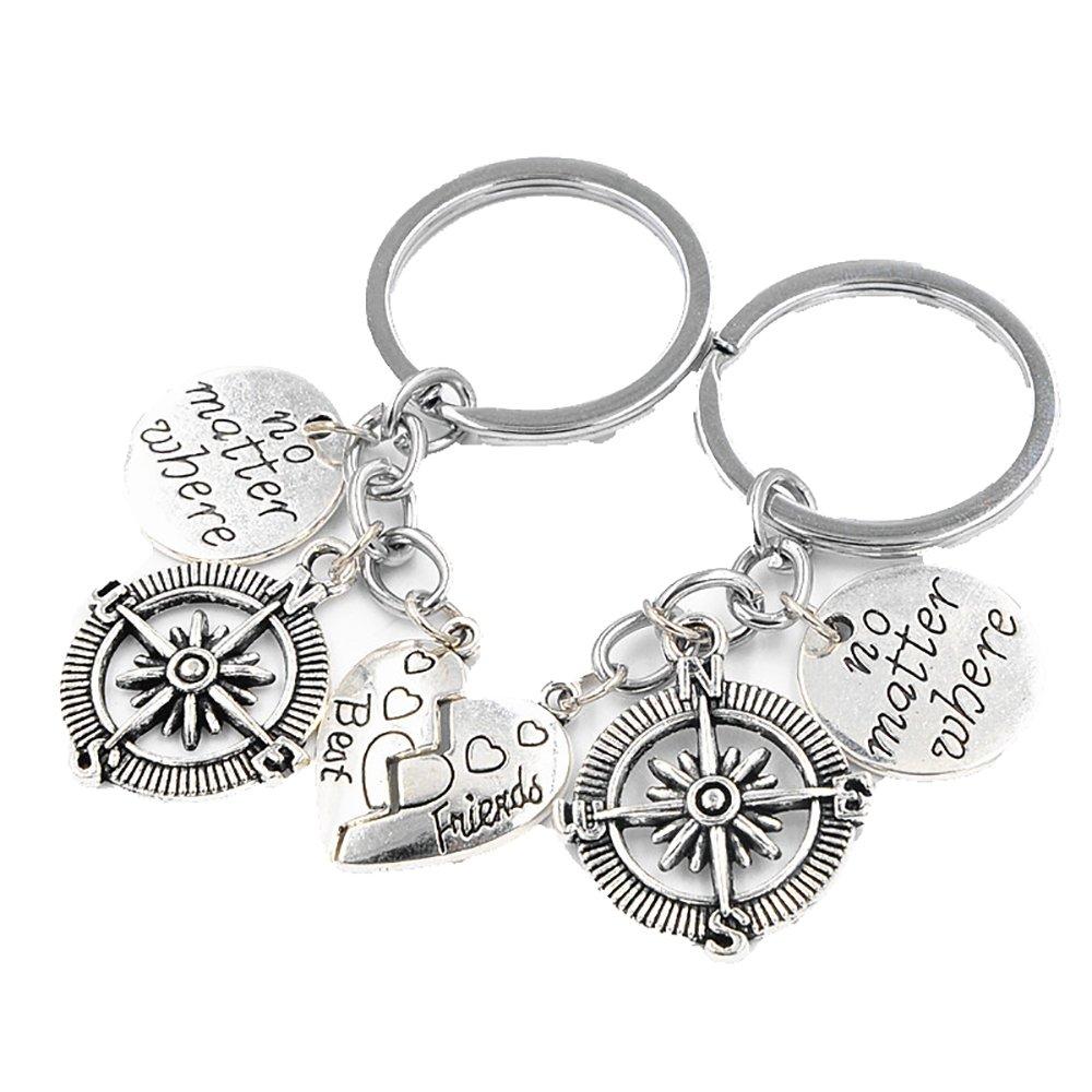 Amazon.com: 2 piezas de collar con colgante de corazón con ...