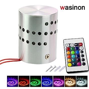 Wasinon®3W RGB Bunte LED Lampe Wandlampe Wandleuchte Lampe Leuchte Moderne  LED Wandleuchte Mit