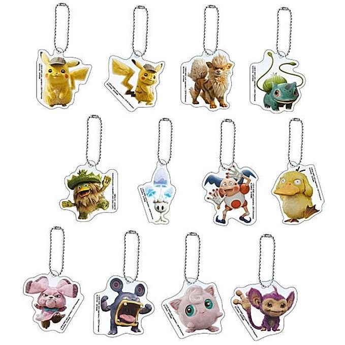 Bandai Pokemon Detective Pikachu Set 12 Llaveros Colección ...