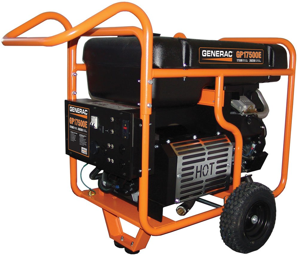 Generac 5735 Gp17500e 17500 Running Watts 26250 20 Kw Generator Wiring Diagram Starting Electric Start Gas Powered Portable Garden Outdoor