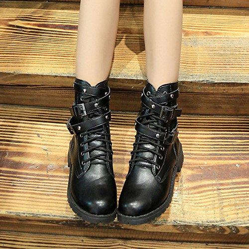 Femmes Bottes, Hatop Femmes Dames Douces Cheville Plat Martin Chaussures Daim En Cuir Bottes À Lacets