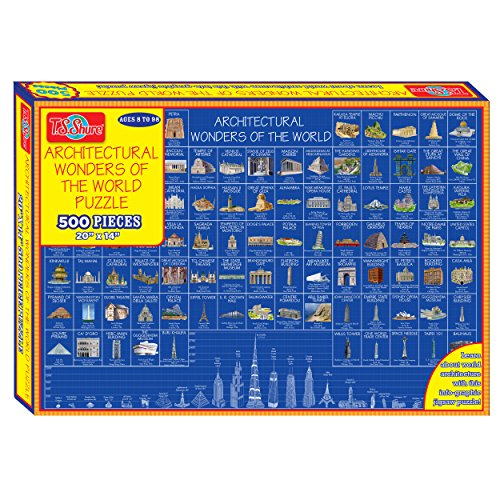T.S. Shure T.S. Shure Wonders of the World Architecture Puzzle (500-Pieces) Architeture Jigsaw
