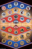 NBA - Logos 15 Poster 22 x 34in