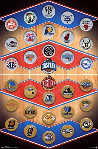 NBA - Logos 15 Poster 22 x 34in by Trends International