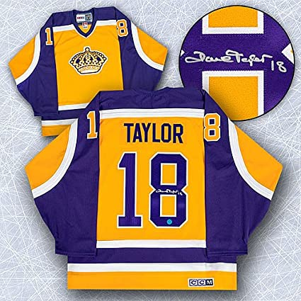 0281e44cc Image Unavailable. Image not available for. Color: Dave Taylor Los Angeles  Kings Autographed Retro CCM Hockey Jersey ...