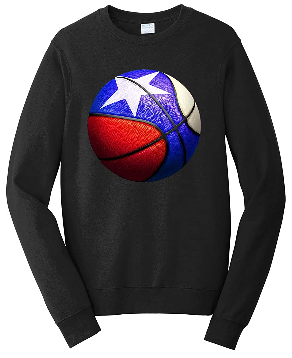 Tenacitee Unisex Texas Basketball Sweatshirt