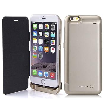Sunydeal Funda Batería para iphone 6 Plus, Carcasa Batería Cargador-batería Externa Recargable 10000mAh Para iPhone 6 Plus 5.5 inch, Oro Rosa