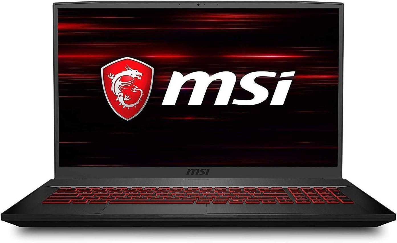 "MSI GF75 17.3"" Gaming Laptop Intel Core i7-9750H 8GB RAM 512GB SSD 120Hz GTX 1660 Ti Aluminum Black"