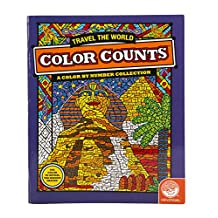 Mindware Color Counts: Travel the World (Colouring Book)