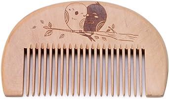 Walmeck Wooden Hair Comb Man's Beard Comb Anti-static Male Mini Facial Hair Beard Comb Wood Massage Comb