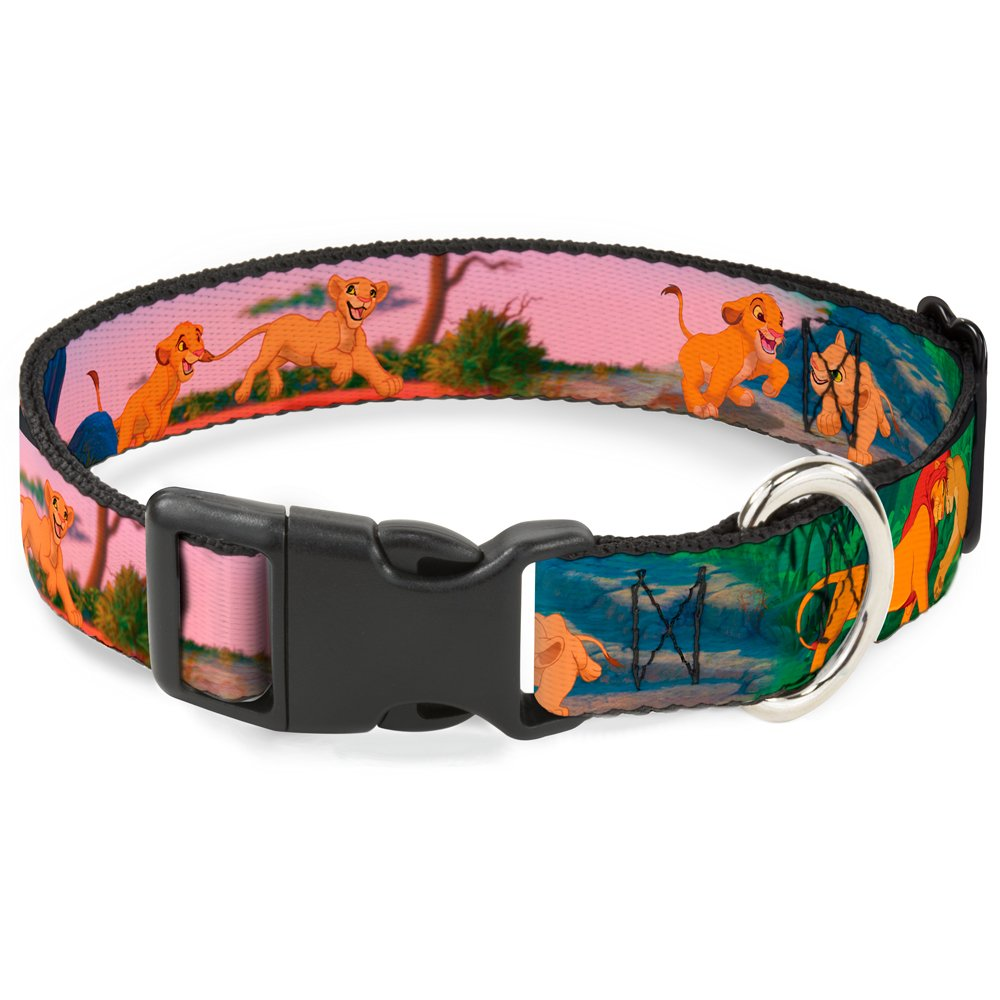 Buckle Down Cat Collar Breakaway Lion King Simba Nala Growing Up Scenes 8 to 12 Inches 0.5 Inch Wide