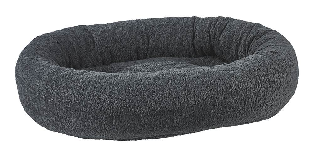 Bowsers Donut Bed, Medium, Grey Sheepskin by Bowsers