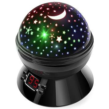 Luces nocturnas para niños, proyector de estrellas multicolor con ...