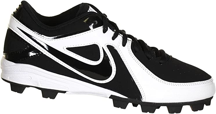 8, Black//White Nike Keystone Low Mens Baseball Cleat