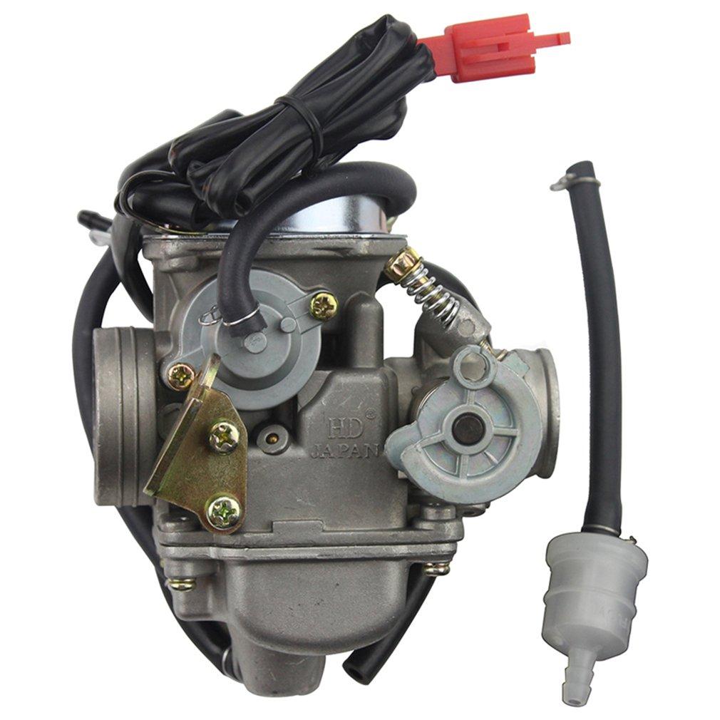 Goofit Pd24j Carburetor For Gy6 150cc Atv Scooter 157qmj Carter Fuel Filters Engine Automotive