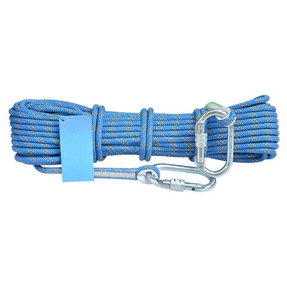 Bleu ERHANG Corde Escalade en Plein Air Sécurité Corde De Sauvetage Cordes Résistant à L'abrasion Fournitures D'équipement 60m10.5mm