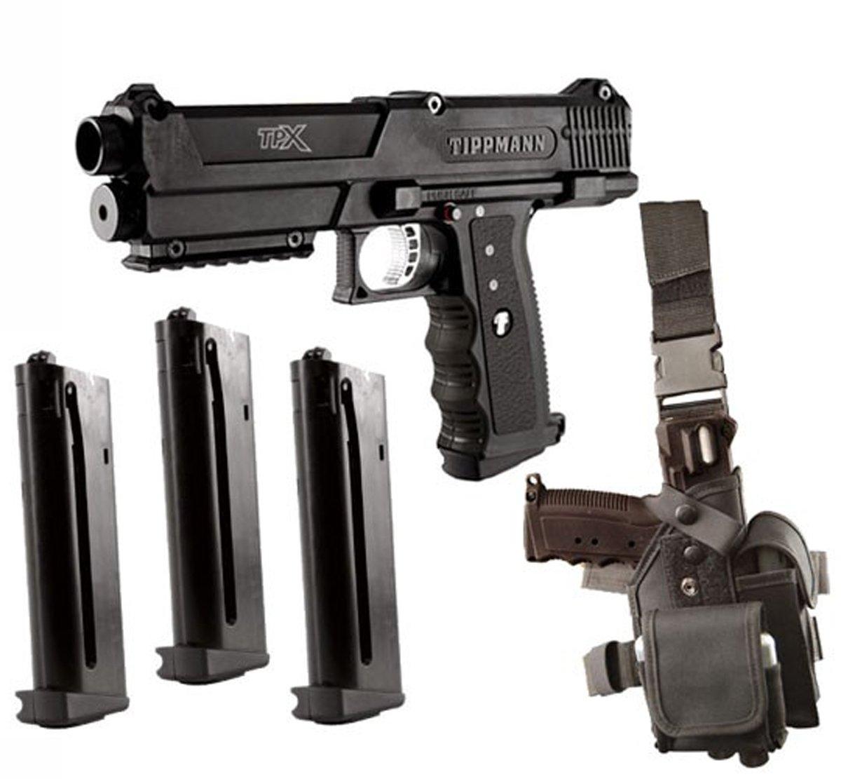 Amazon Com Tippmann Tpx Paintball Pistol Starter Kit Black