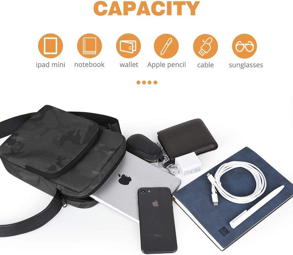 9.7 iPad,10.1 inch Samsung Galaxy Tablet gray WIWU Shoulder Bag for 11 Inch New iPad Pro 10.5 Inch iPad Air//Pro Casual and Business Crossbody Bag