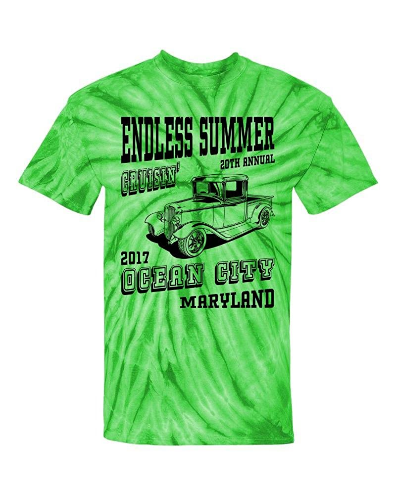 3d71286d Top4: Sale - 2017 Cruisin Endless Summer Official Car Show t-Shirt Lime Tie  Dye Ocean City
