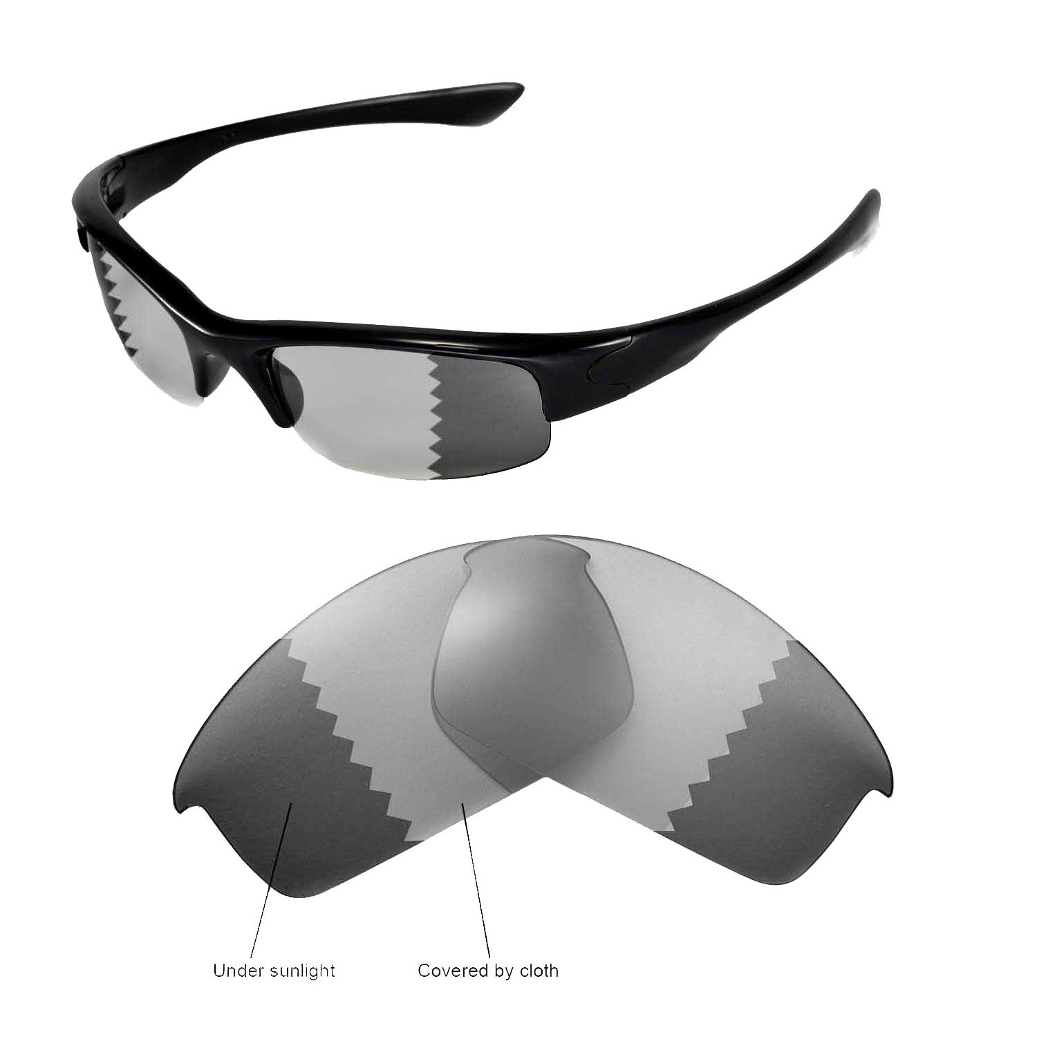 f794a24ba5 Walleva Replacement Lenses for Oakley Bottlecap Sunglasses-Multiple Options  Available (Transition photochromic - Polarized)  Amazon.in  Clothing   ...