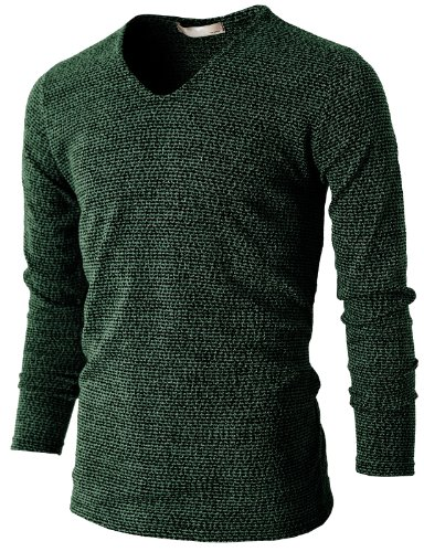 h2h-mens-v-neck-knit-t-shirts-long-sleeve-darkgreen-us-s-asia-m-kmttl029