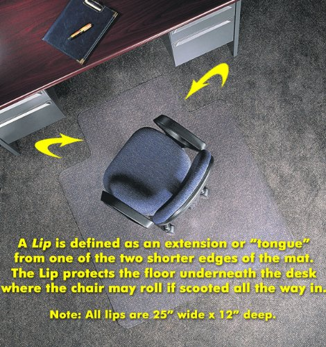 Anti-Static Chair Mats 46'' x 60'' without Lip by American Floor Mats - Chair Mats