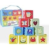 積み木赤 ちゃんおもちゃ 音の出る積み木 想像力を育つ知育玩具お誕生プレゼント収納ケース付き 入園 出産お祝い