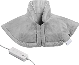 """Heating Pad for Neck and Shoulder,Electric Heated Wrap for Back Pain and Cramps Relief with Fast-Heating Technology 20""""x25"""",Moist and Dry Heat Therapy,3 Heat Settings, Auto Shut Off, 