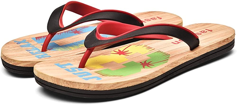 Hilotu Mens Flip Flops Sandals Shoes Slippers for Beach Shower Lightweight Comfort Thongs