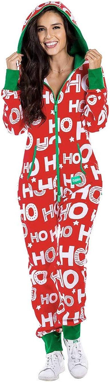 Pijama Completo De Mujer Tipo Mono Con Impresos Navidenos Sunnsean Pijama Mujer Invierno Calentito Suelto Monos Pantalones Largos Con Capucha Y Cremallera Bolsillos Pijamas Monos Jumpsuit De Navidad Amazon Es Ropa Y Accesorios