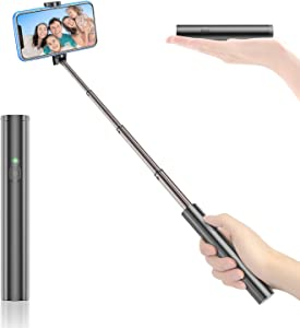 Vproof Selfie Stick Bluetooth, Lightweight Aluminum All in One Extendable Selfie Sticks Compact Design for iPhone 11 Pro Max/11 Pro/11/XS/XS Max/XR/X/8/8 Plus/7/6s/6, Galaxy S10/S9/S8/S7/S6/Note, More