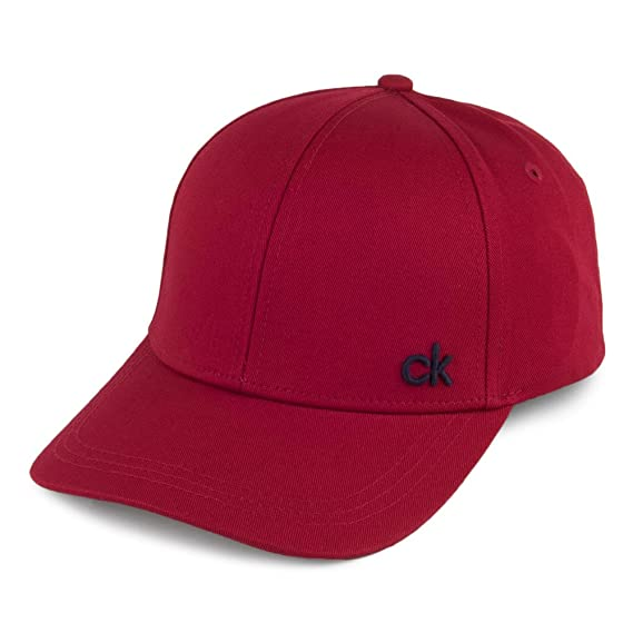 db45d343288 Calvin Klein Hats CK Baseball Cap - Red Adjustable  Amazon.co.uk ...