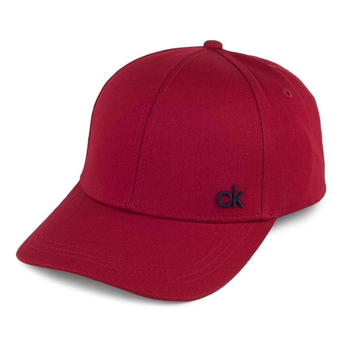 Calvin Klein Gorra de Béisbol CK Rojo - Ajustable: Amazon.es: Ropa y accesorios