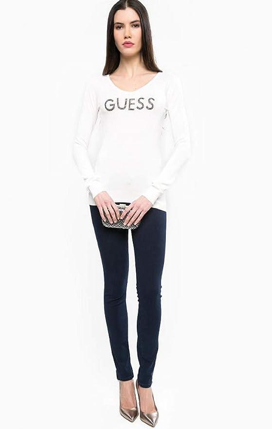 Guess Jean Slim Femme Marylin 3 Zip Bleu Indigo - Taille - W32 l29   Amazon.fr  Vêtements et accessoires c7c3fa915243