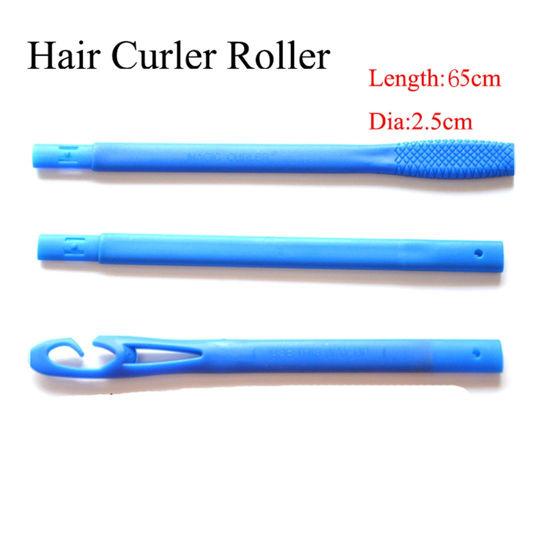 65Cm 18Pcs Spiral DIY Plastic Hair Curler Rollers Size Styling Tools With 3 Stick Hooks Diameter 2.5Cm by HAHUHERT (Image #2)