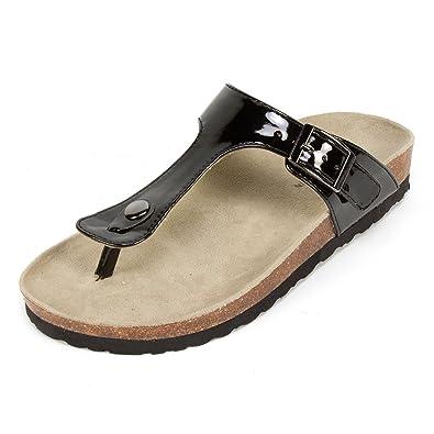 eadd75200d Amazon.com | WHITE MOUNTAIN 'CHICORY' Women's Sandal, Black Patent - 7 M |  Platforms & Wedges